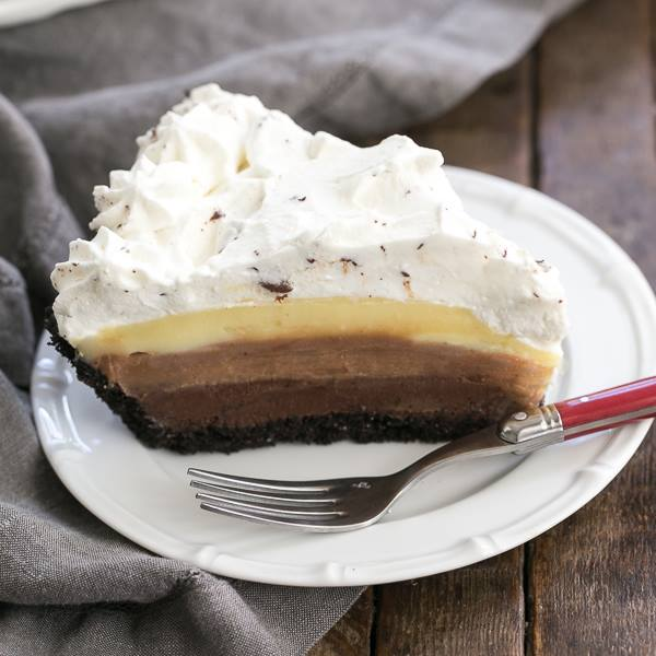 Triple Chocolate Layer Pie