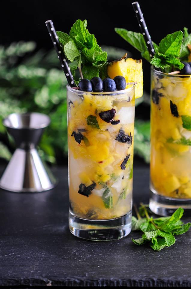 Blueberry Pineapple Mojito