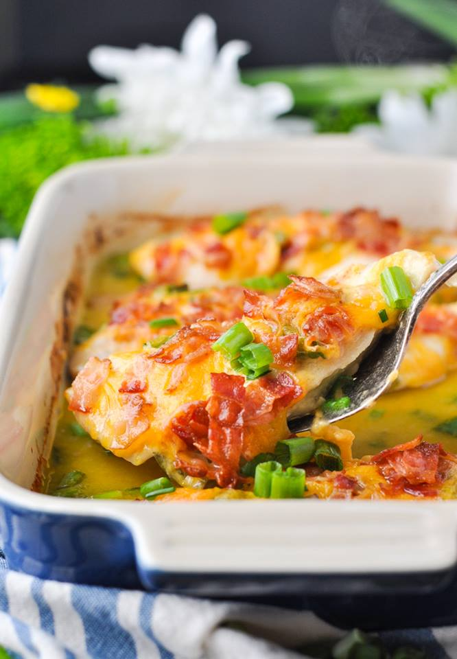 Dump-and-Bake Cheddar Bacon & Chive Chicken