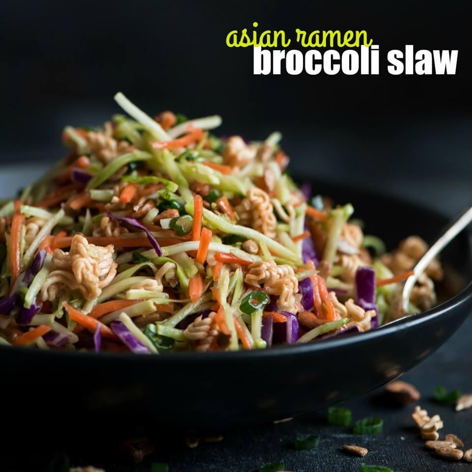 Asian Ramen Broccoli Slaw
