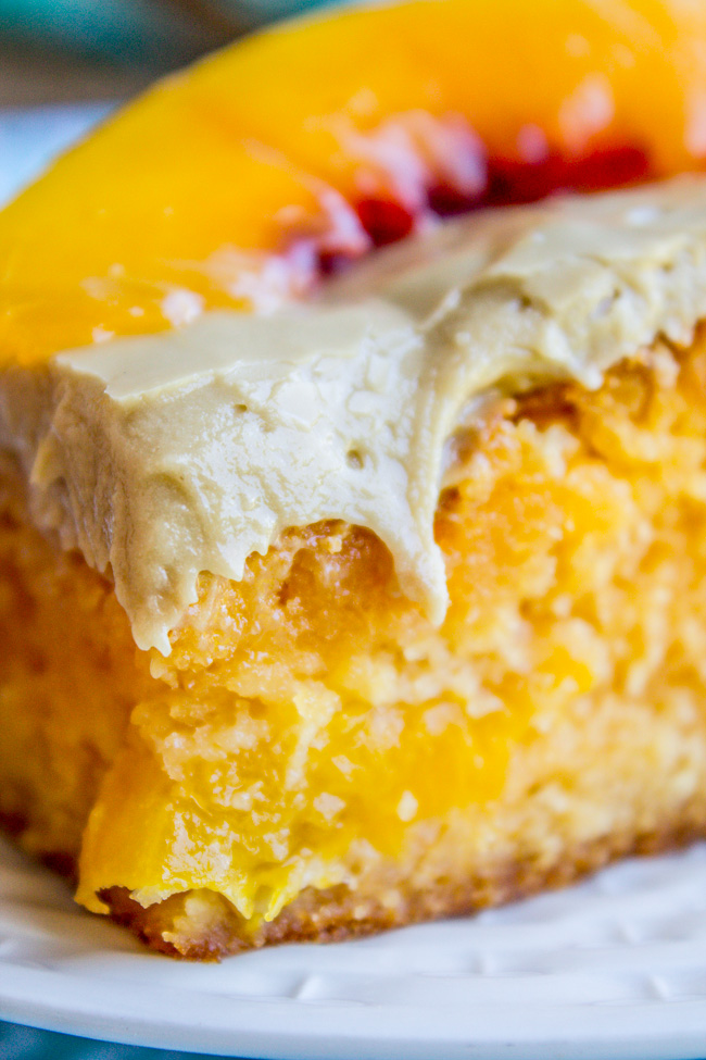 Peach Cake Made With Cake Mix