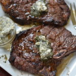 Marinated Herb Butter T-Bone Steaks