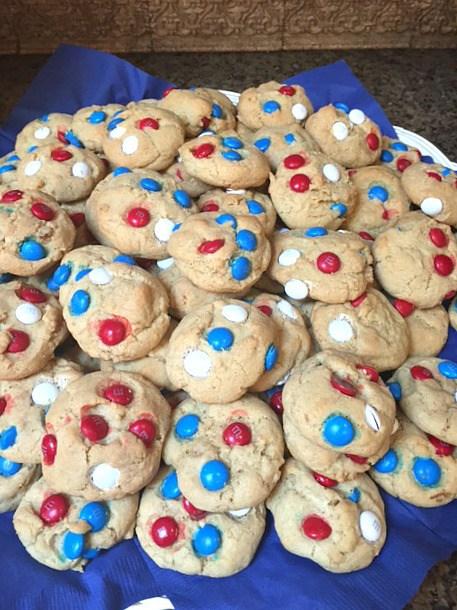 Patriotic M&M Butter Cookies
