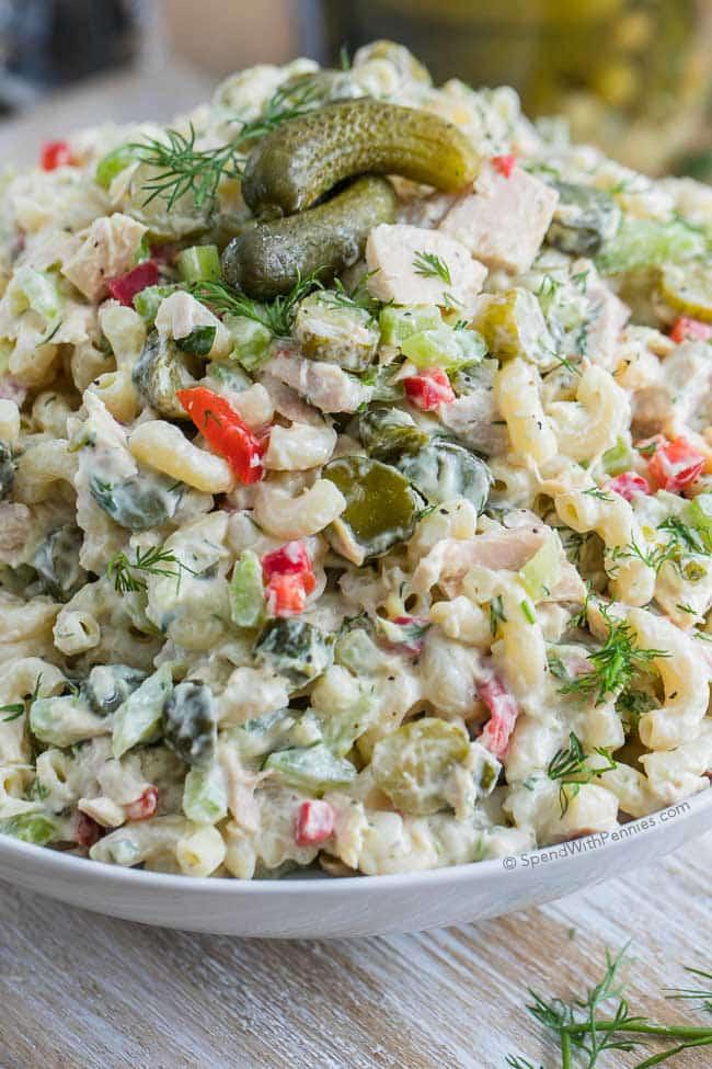Pickled tuna pasta salad maria 39 s mixing bowl for Tuna fish pasta salad