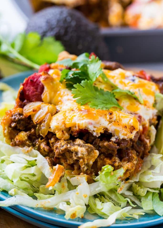 Deep Dish Taco Squares