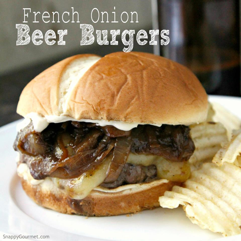 French Onion Beef Burger