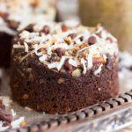 Coconut Pecan Coconut Cheesecake Muffins