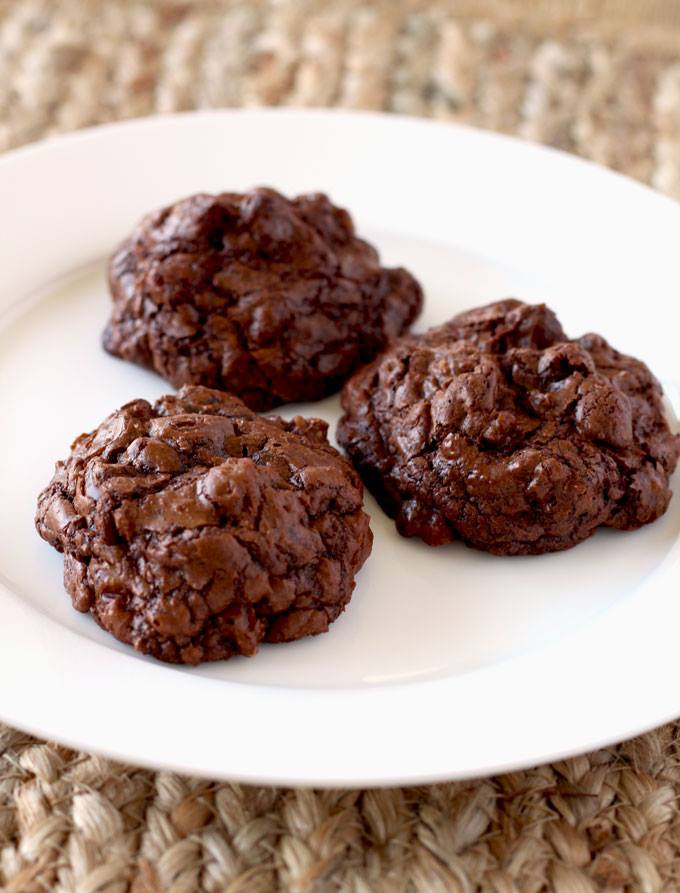 Fudgy and Nutty Double Chocolate Cookies