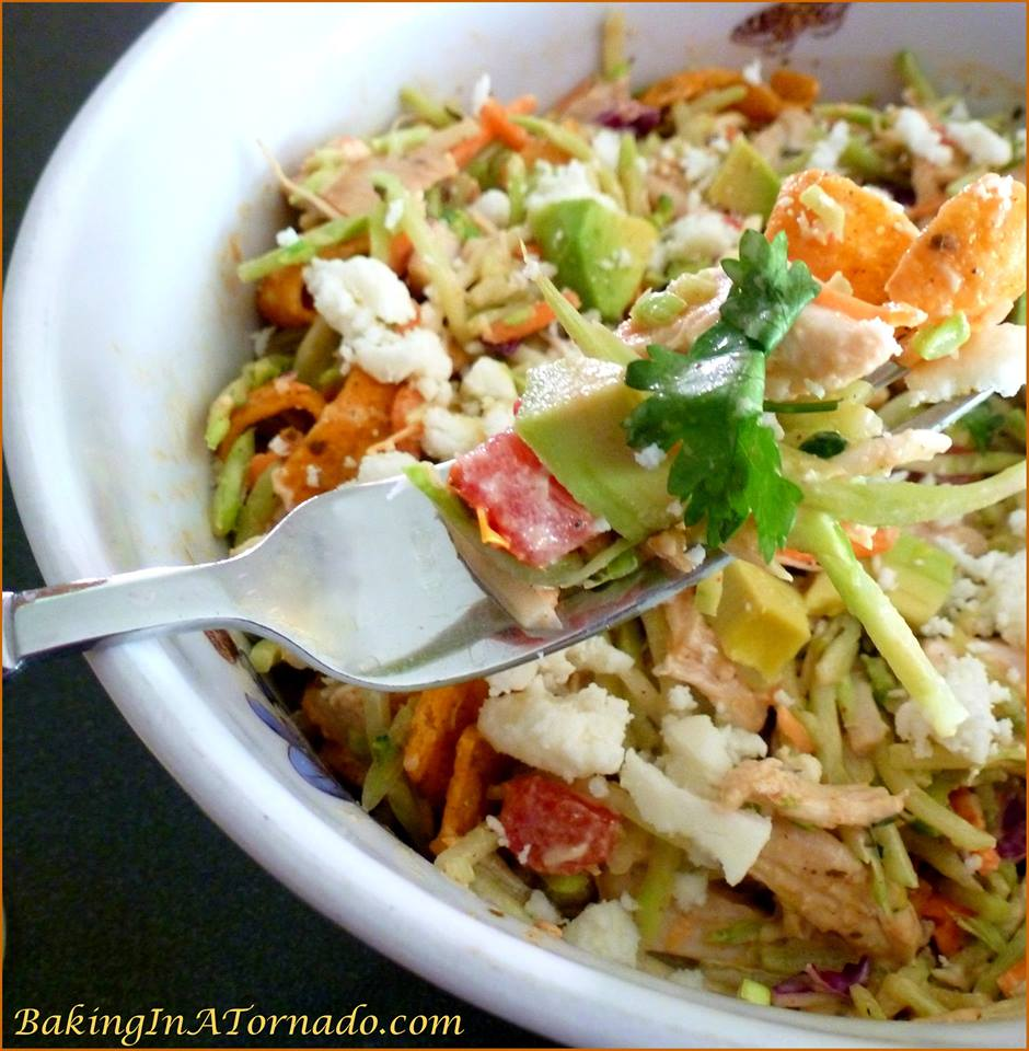 Spicy Broccoli Slaw and Chicken Salad