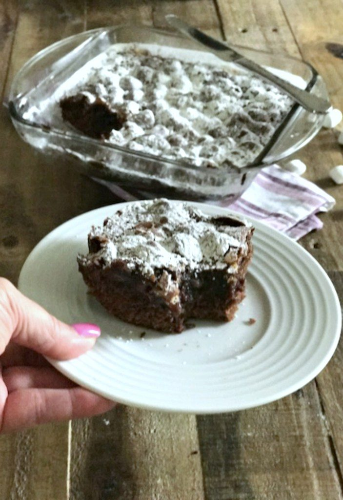 Fudgy Marshmallow Covered Brownies
