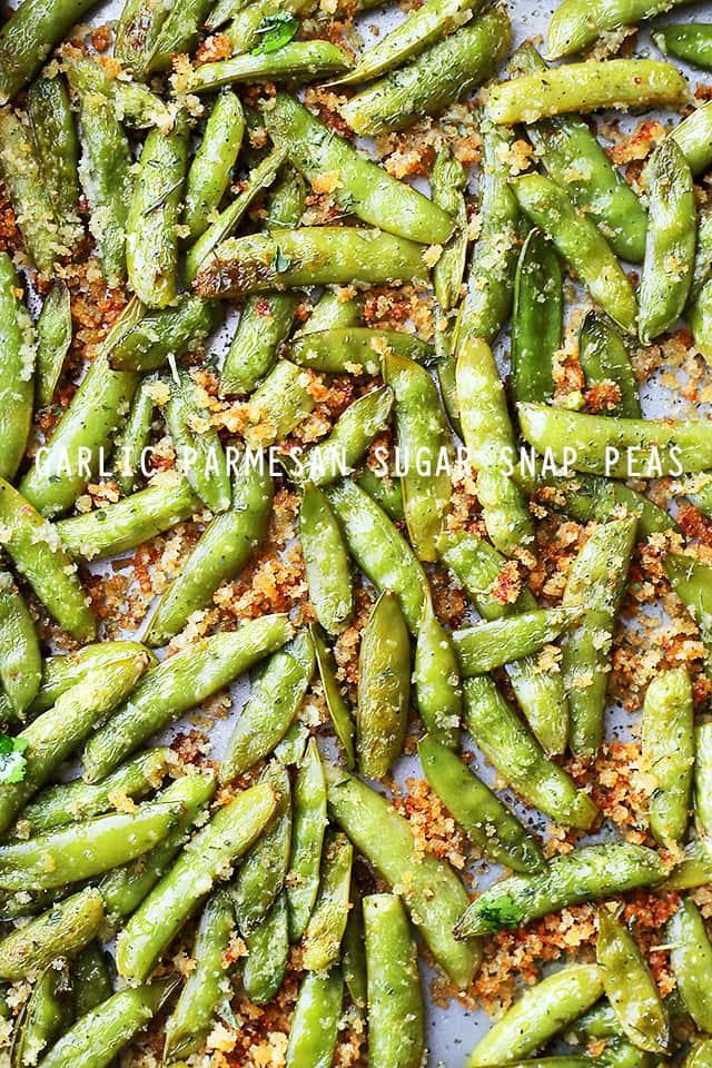 Garlic Parmesan Sugar Snap Peas