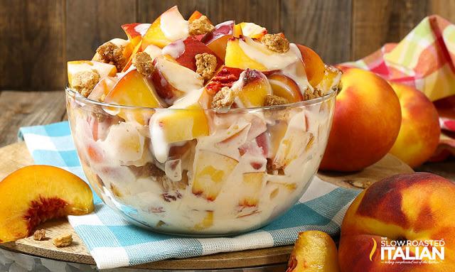 Peach Cobbler Cheesecake Salad