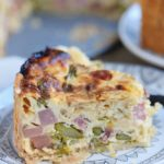 Deep Dish Ham and Asparagus Quiche