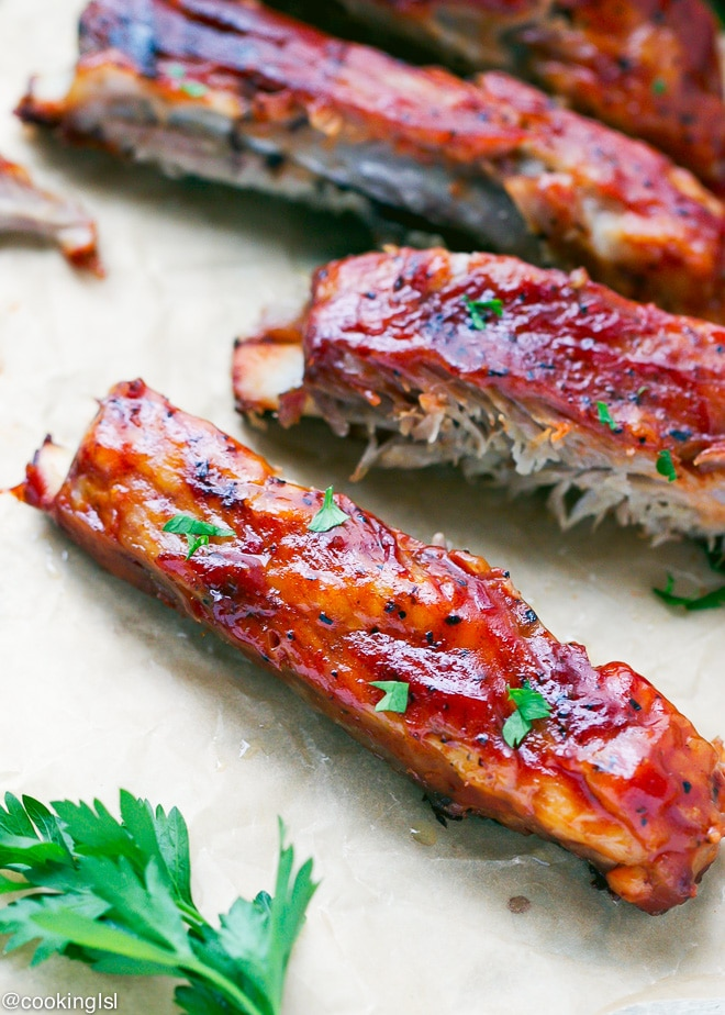 Oven baked St Louis Style Ribs