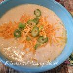 Cauliflower Soup with Garlic and Cheddar