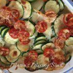 Baked  Zucchini Alfredo