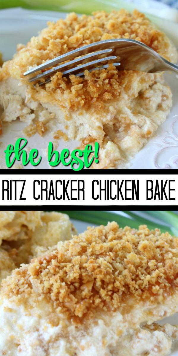 Ritz Cracker Chicken Bake
