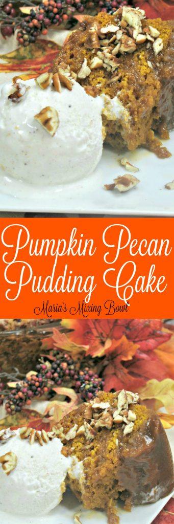 pumpkin pecan pudding cake