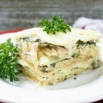 Cheesy Chicken Spinach Lasagna