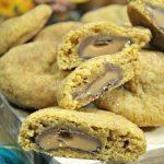 Rolo Stuffed Pumpkin Spice Cookies