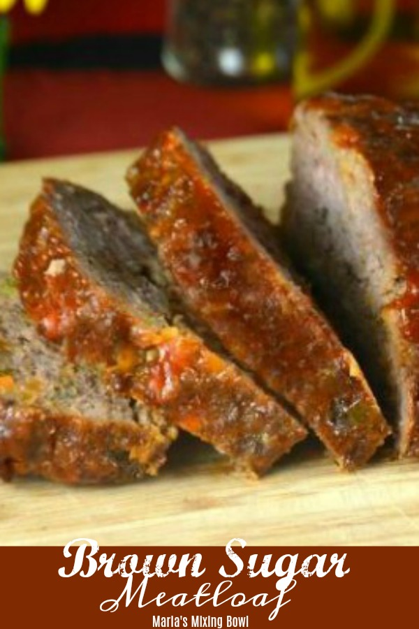 meatloaf sliced on a cutting board