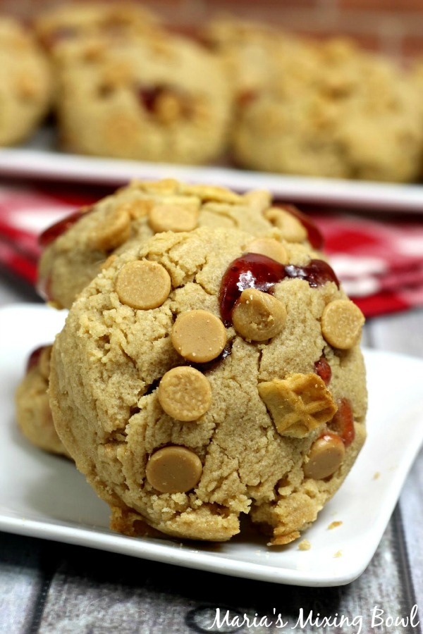 Peanut Butter and Jam Stuffed Cookies