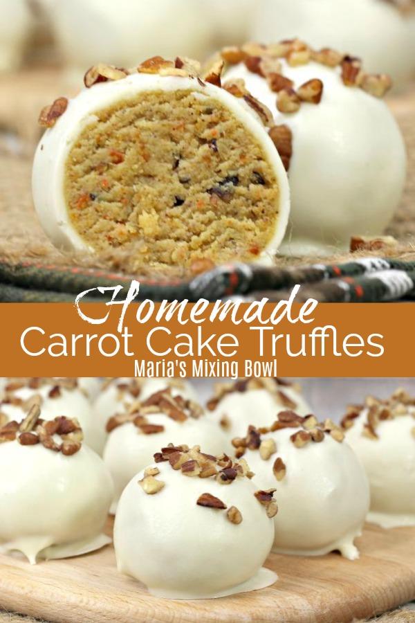Homemade Carrot Cake Truffles