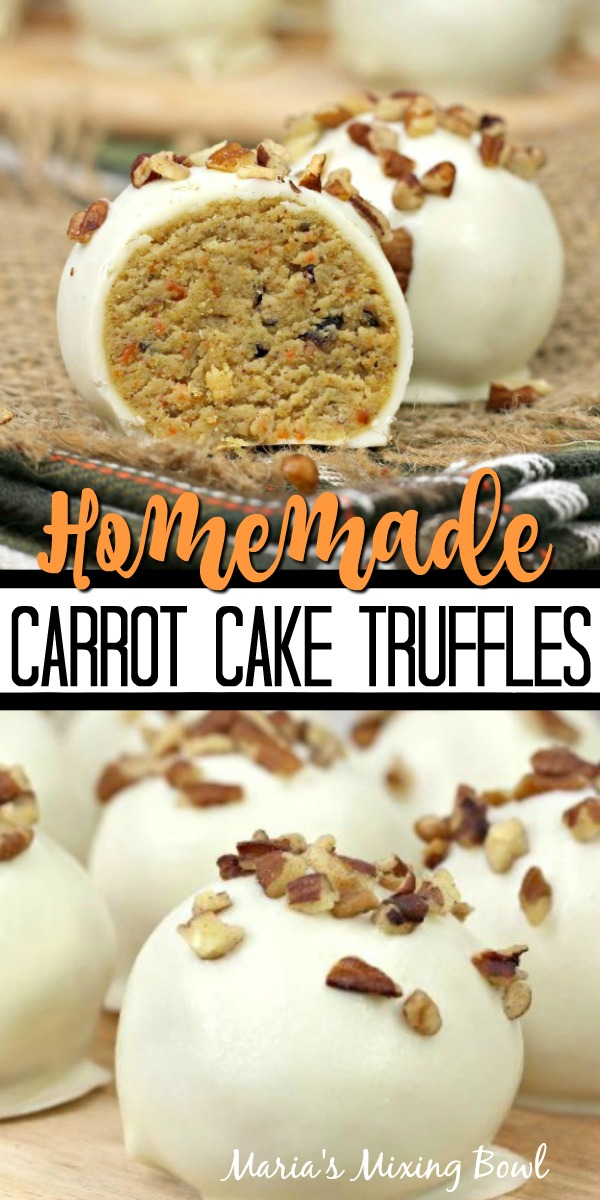 Homemade Carrot Cake Truffles