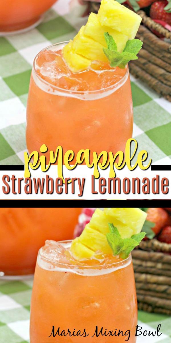 Pineapple Strawberry Lemonade