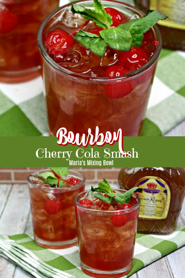 Bourbon Cherry Cola Smash