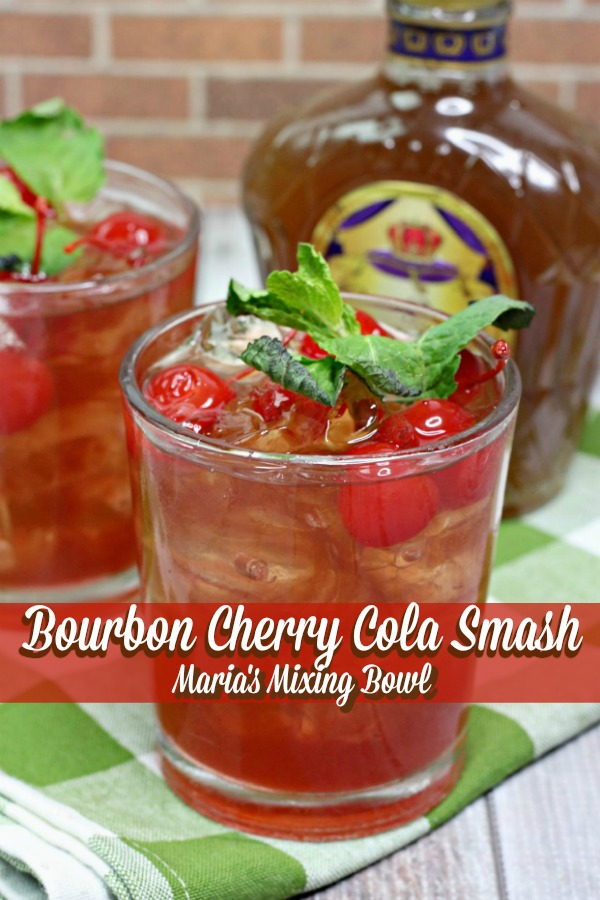 Bourbon Cherry Cola Smash