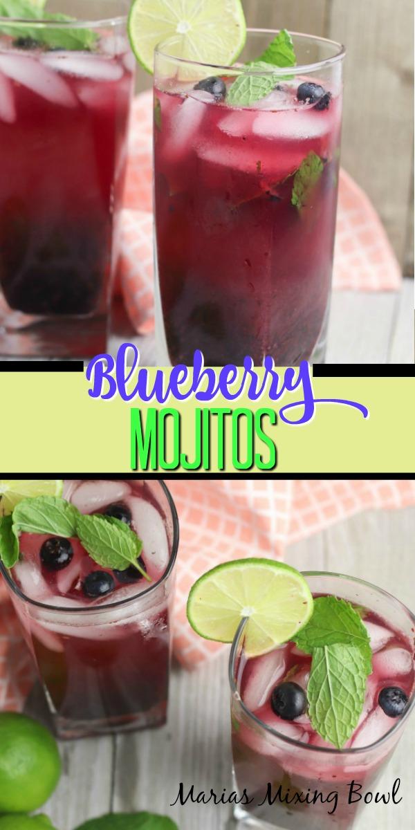 Blueberry Mojitos