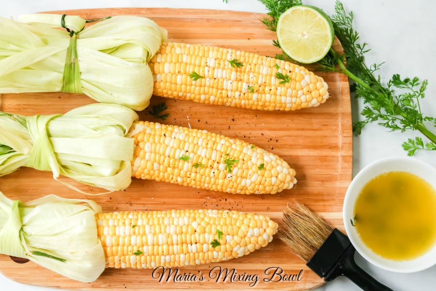 corn with lime cilantro butter