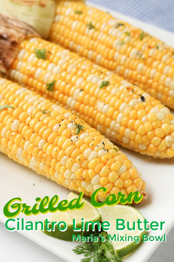 Grilled Corn with Sweet Cilantro Butter