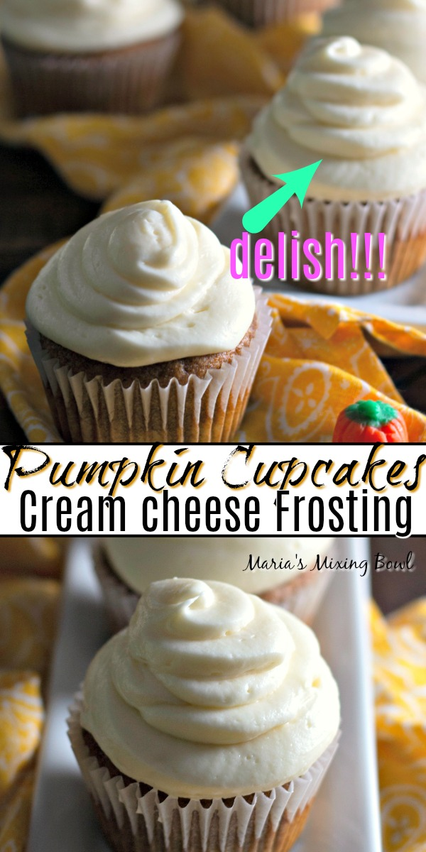 Pumpkin Cupcakes with Cream Cheese Fristing