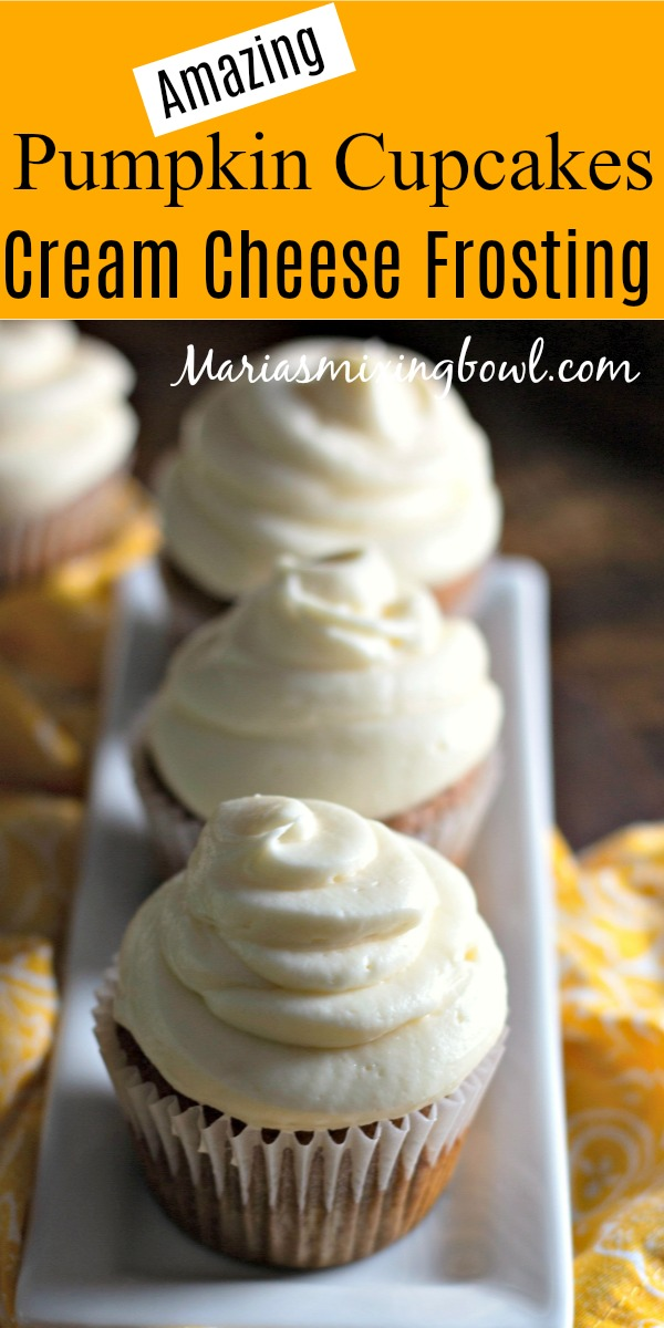 Amazing Pumpkin Cupcakes cream Cheese Frosting