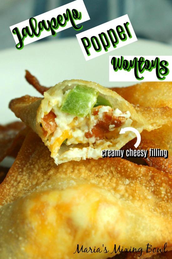 Jalapeno Popper Wonton appetizers