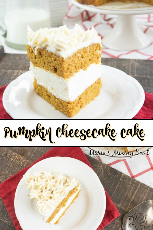 Pumpkin Cheesecake Cake-No Bake Filling
