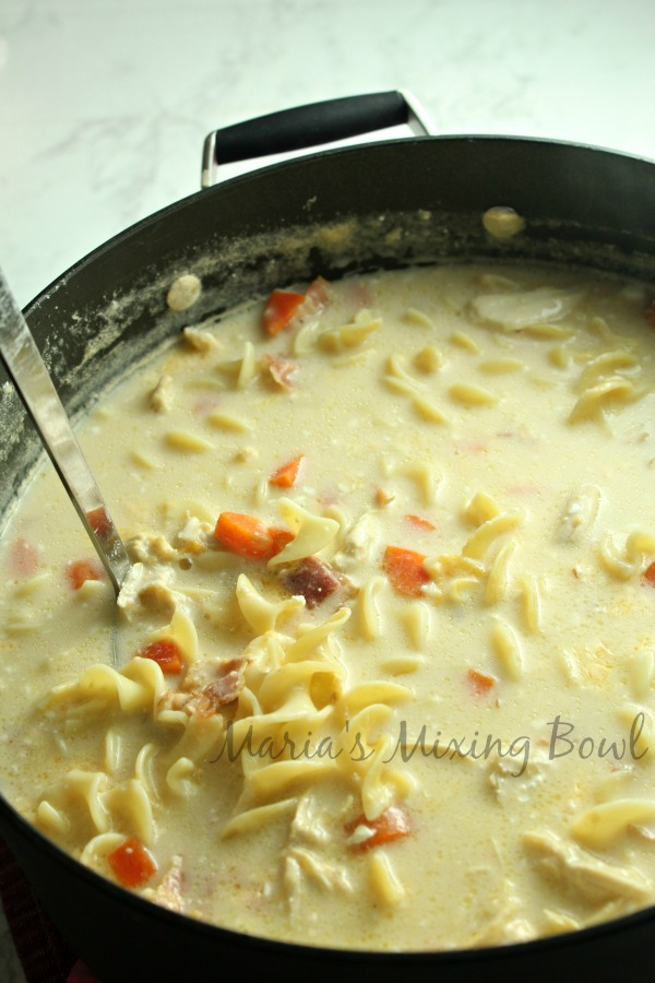 finished creamy soup ready to serve