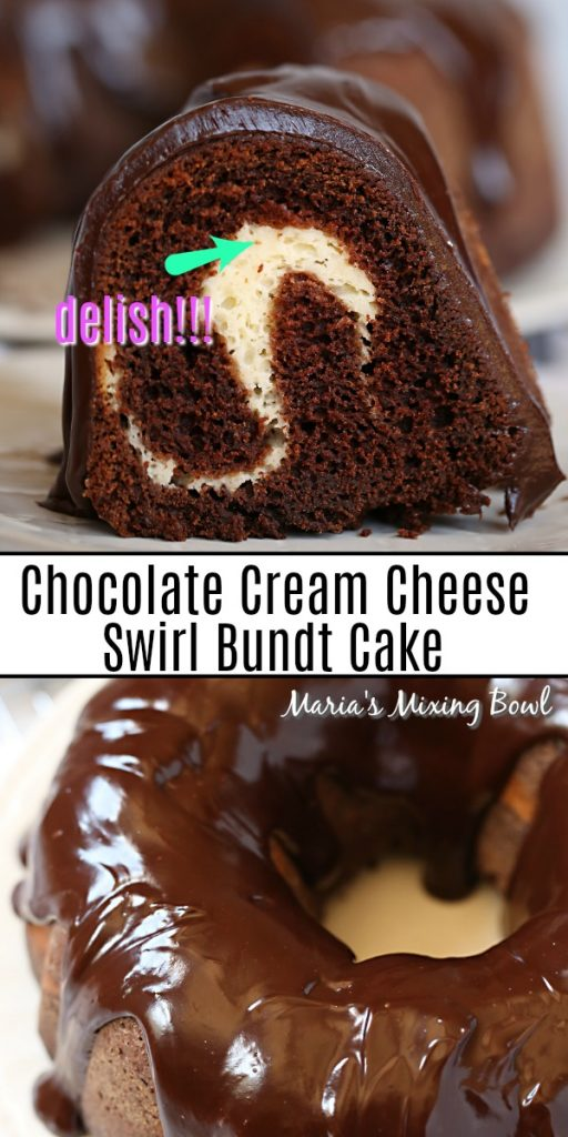 Chocolate Cream Cheese Swirl Bundt Cake
