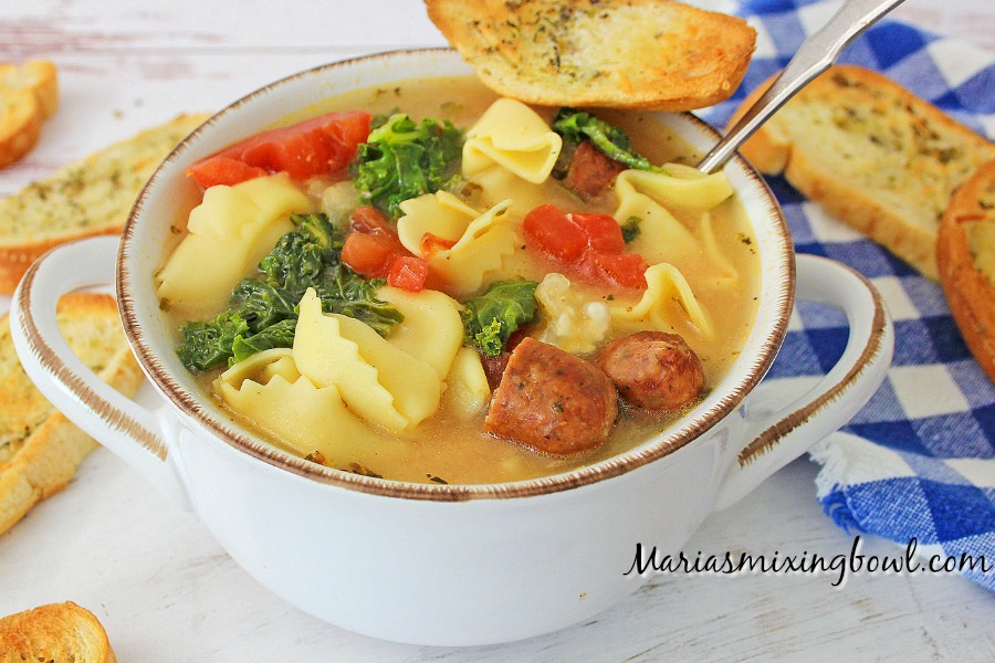 Tortellini and Sausage Soup