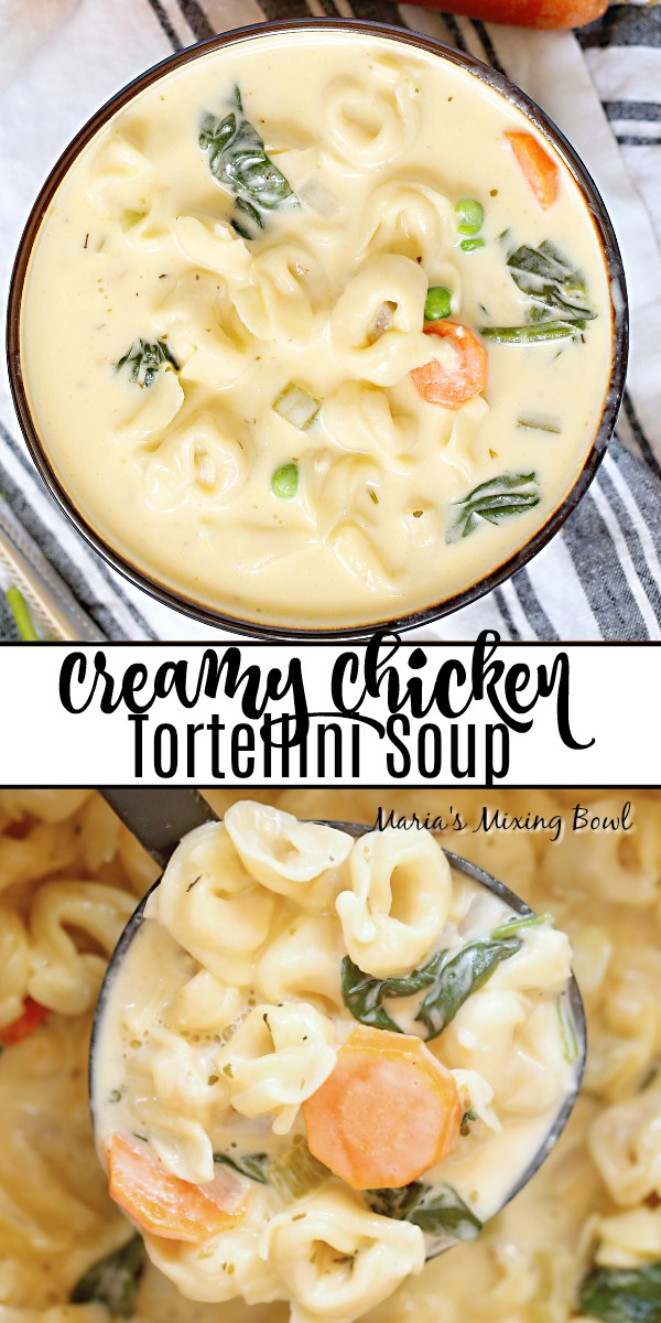 Creamy Chicken Tortellini Soup