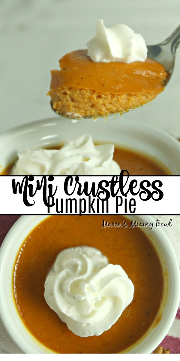 Mini Crustless Pumpkin Pie