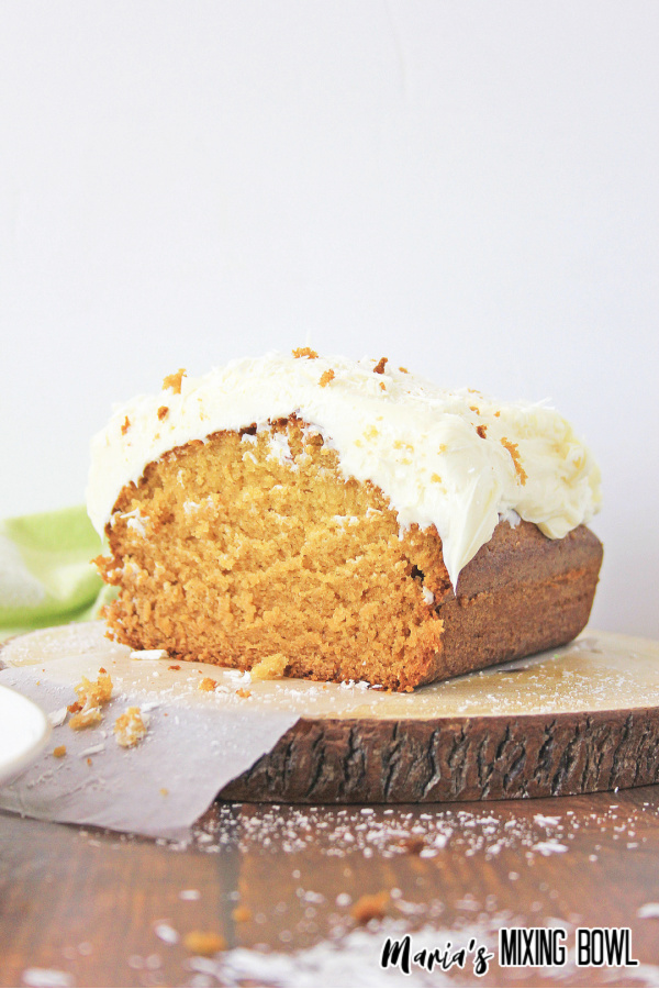 gingerbread on a board with a green and white check napkin
