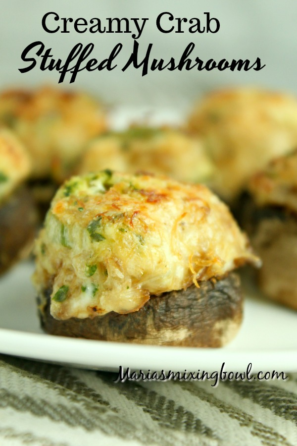 Creamy Crab Stuffed Mushrooms