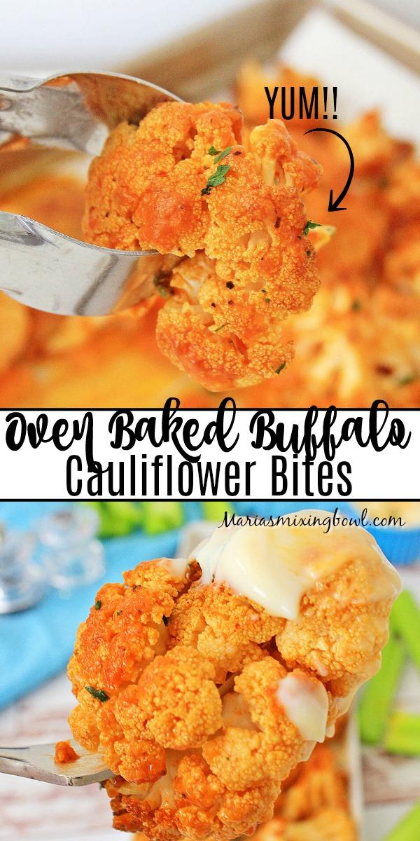 Oven Baked Buffalo Cauliflower Bites