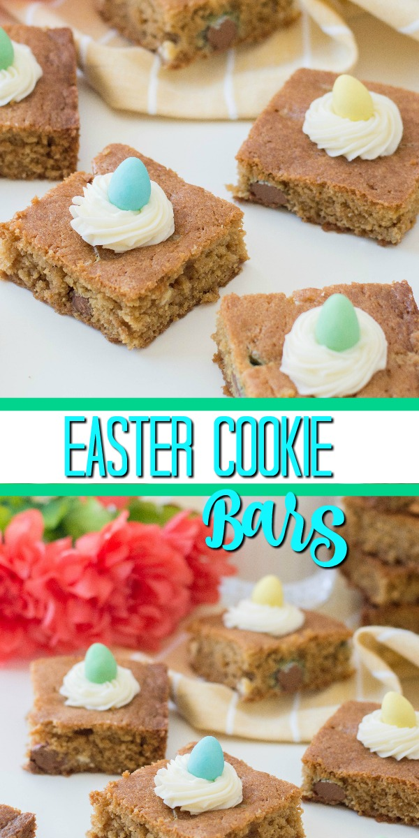 Easter Cookie Bars amazingly delicious! Chewy bars everyone loves