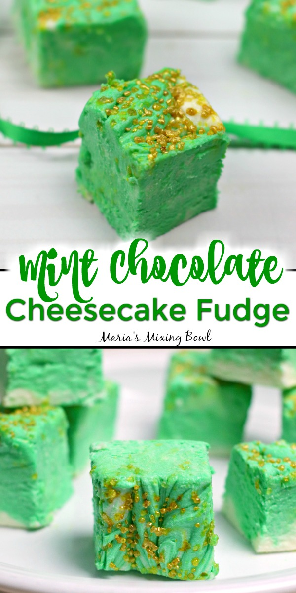 Mint Chocolate Cheesecake Fudge