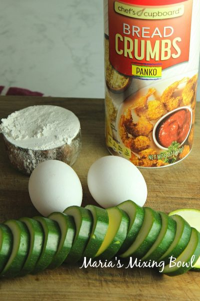 ingredients for zucchini fritters