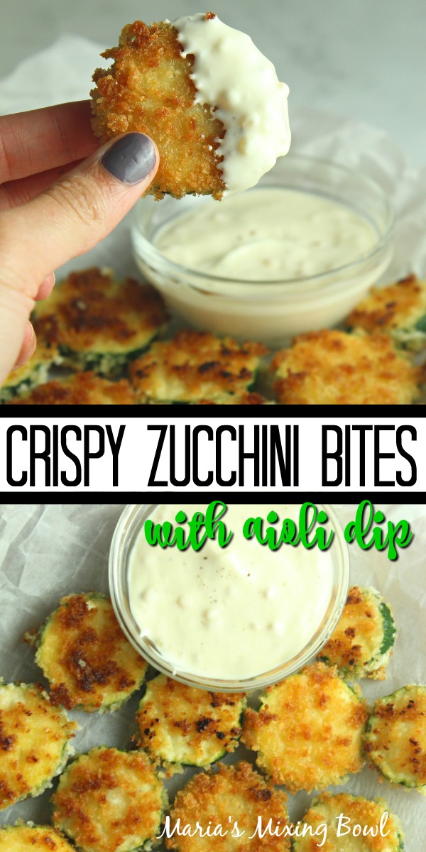 Crispy Zucchini Bites with Aioli Dip
